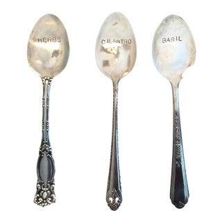 Vintage Silverware Herb Markers