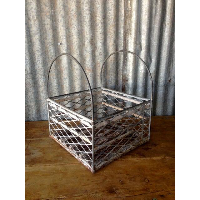 Image of Vintage Metal Basket with Handles