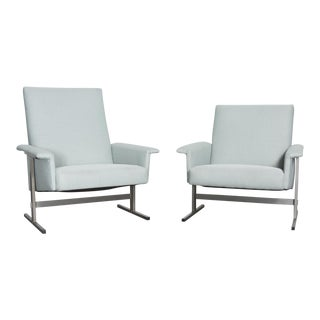 His and Her Kjaerholm Style Lounge Chairs - Pair