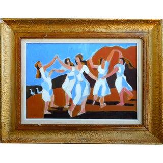 Oil Painting of Dancing Women