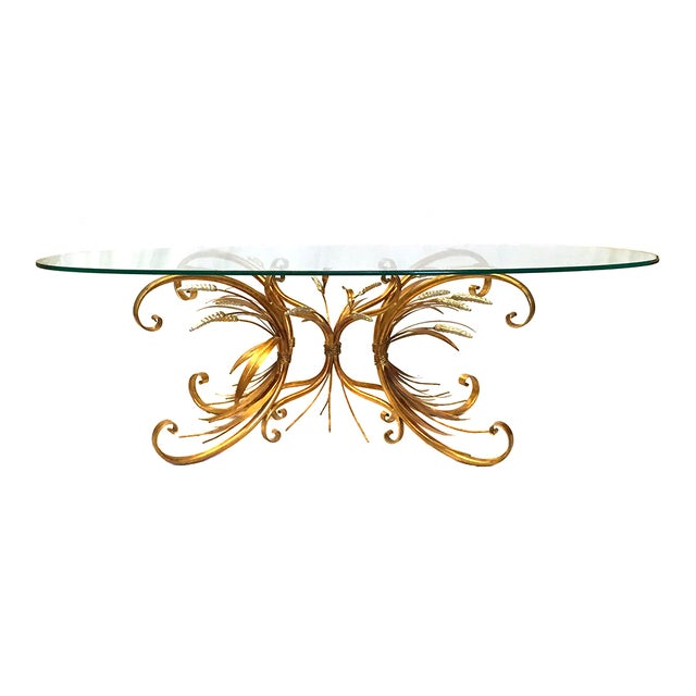 Gilt Wheat Motif Coffee Table - Image 1 of 5