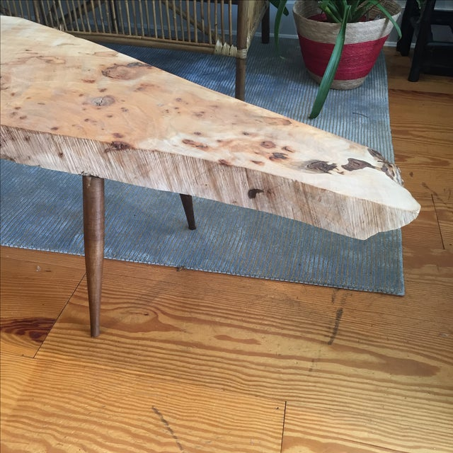 Live Edge Wood Slab Bench or Coffee Table - Image 3 of 9