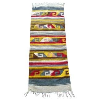 Vintage Wool Flat Weave Rug