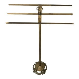Vintage Brass Towel Rack