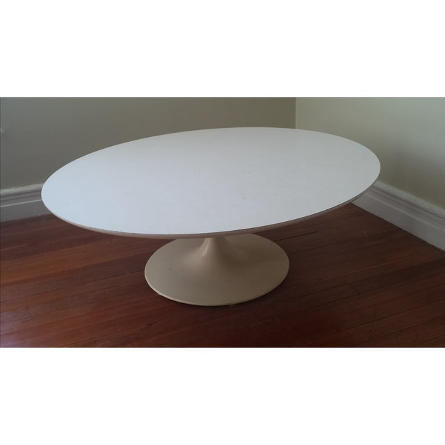 Reproduction Saarinen Tulip White Coffee Table Chairish