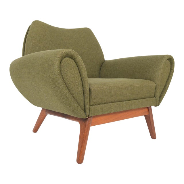 Johannes Andersen Lounge Chair in Olive - Image 1 of 11