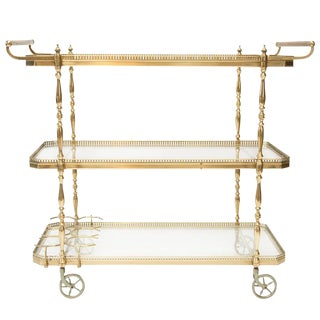 1950's Italian Brass Bar Cart