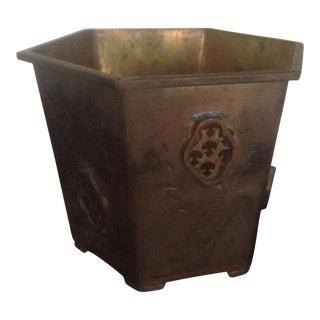 Vintage Brass Octagon Planter