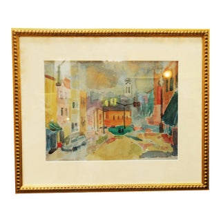 Limited Edition Street Scene Watercolor Lithograph