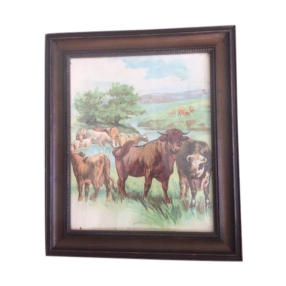 Cows Painting - Image 1 of 3