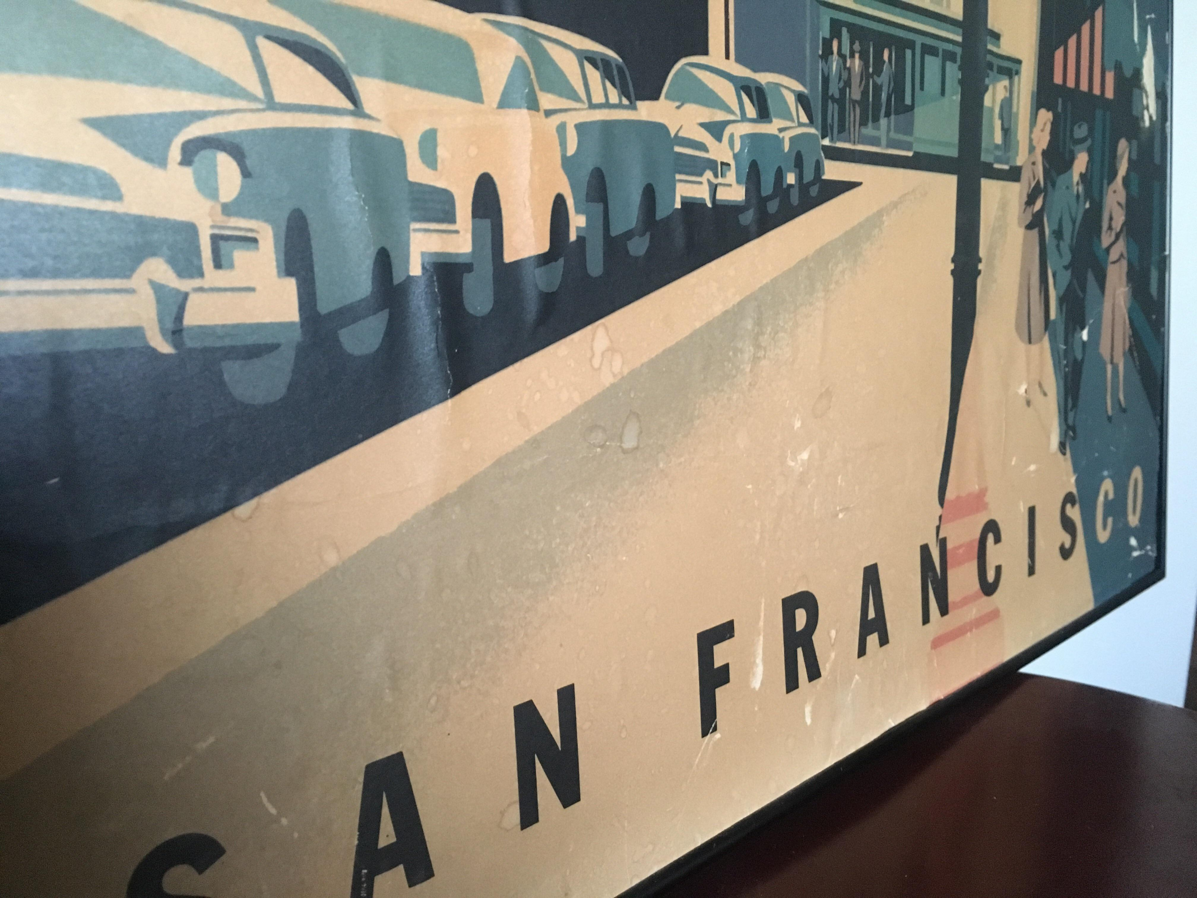 Framed Mid Century San Francisco Poster   Image 3 Of 8