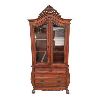 Chippendale Style Curio China Cabinet