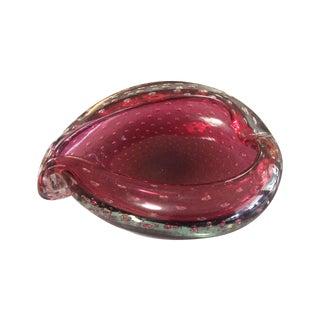 Italian Ruby Murano Glass Dish