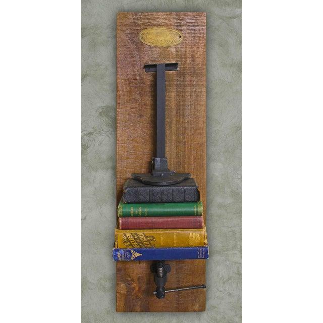 Industrial Chic Iron & Wood Machinery Bookshelf - Image 2 of 4