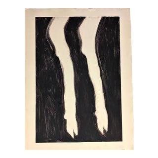 Black & White Calf Hoof Monoprint