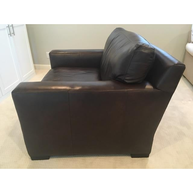 Crate & Barrel Axis II Leather Chair - Image 7 of 8