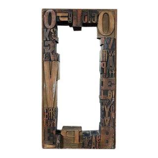 Jo Mead Typography Woodblock Framed Mirror
