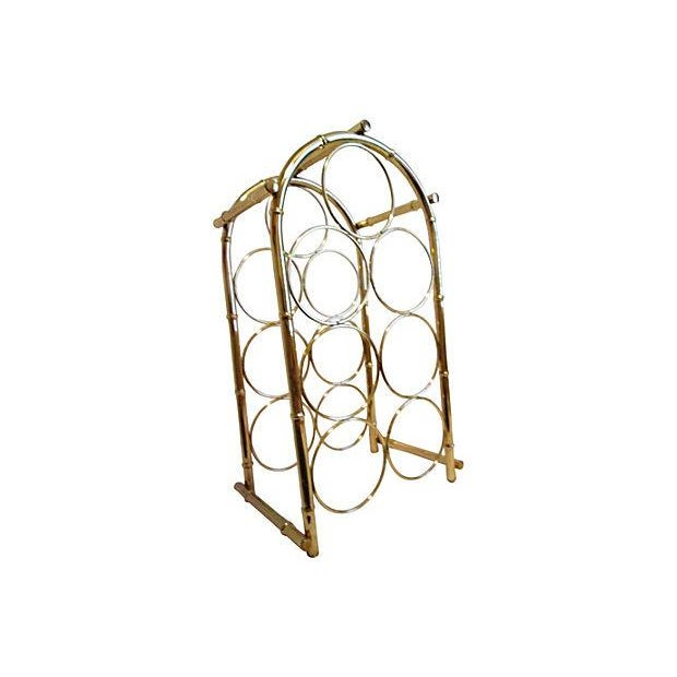 Brass-Plated Dome Bamboo Wine Rack - Image 6 of 6