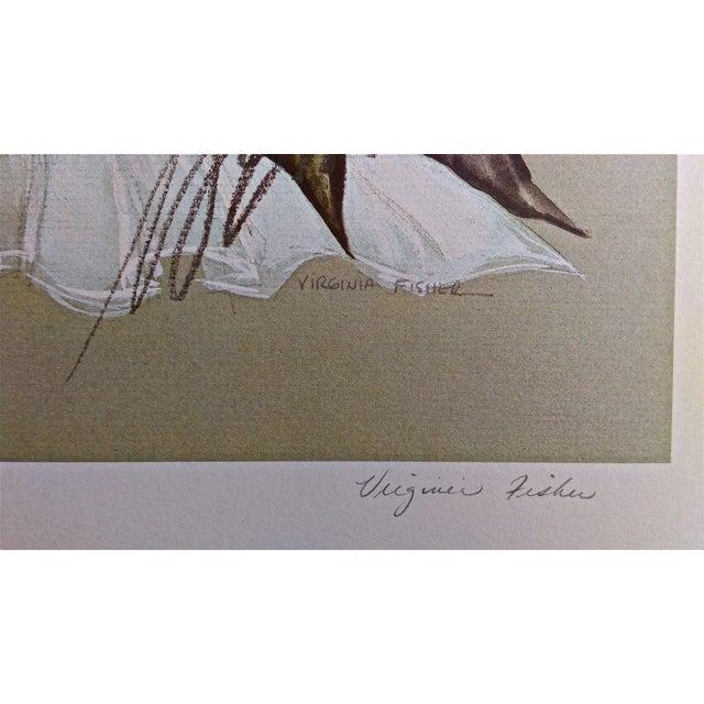 The Great Sinner Velvet Draped Skirt Lithograph - Image 8 of 9