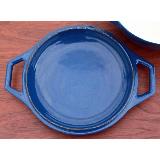 Vintage Blue Michael Lax for Copco Danish Modern Cast Iron Dutch Oven - Image 7 of 8