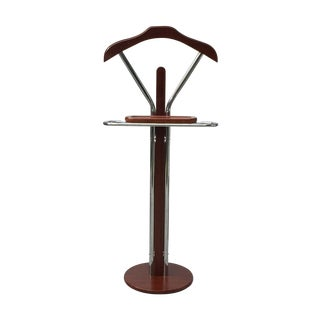 Chrome & Wood Men's Valet Stand