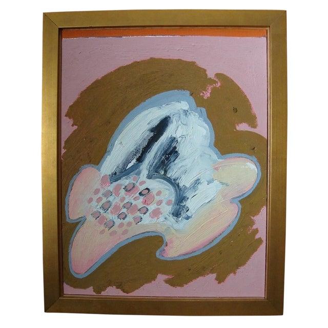"Jose Ramon Lerma 1977 ""Pink Abstract""Painting - Image 1 of 5"
