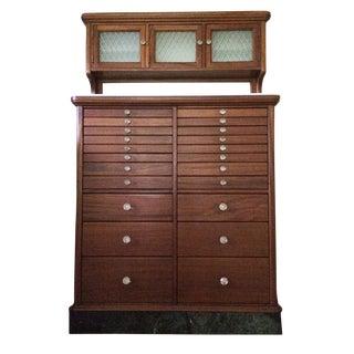 Antique Wood Dental Cabinet