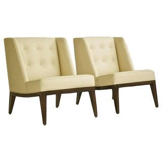 "Rare Edward Wormley ""Janus"" Lounge Chairs"