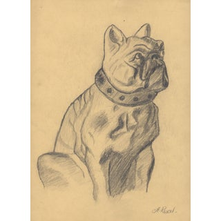A. Revel 1920's Bulldog Drawing