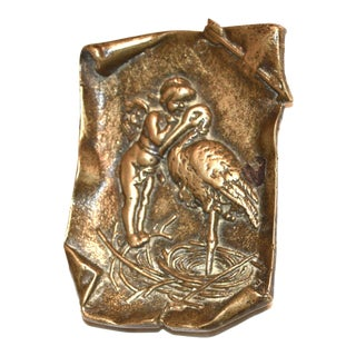 Cupid and the Stork Art Nouveau Trinket Dish