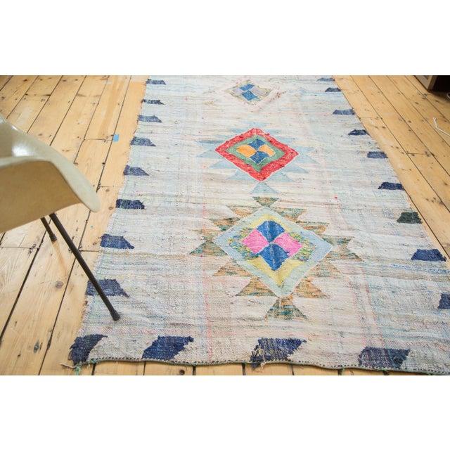 "Vintage Moroccan Rag Rug - 4'1"" X 8'6"" - Image 4 of 8"