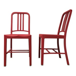 Industrial Emeco 111 Navy Chairs - A Pair