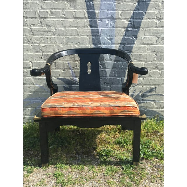 Image of Vintage Chinoiserie James Monte Style Accent Chair