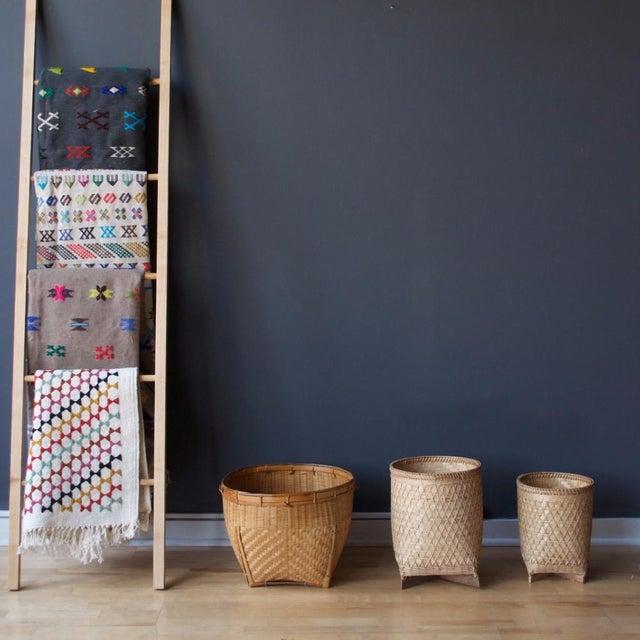 Image of Natural Rattan Floor Basket