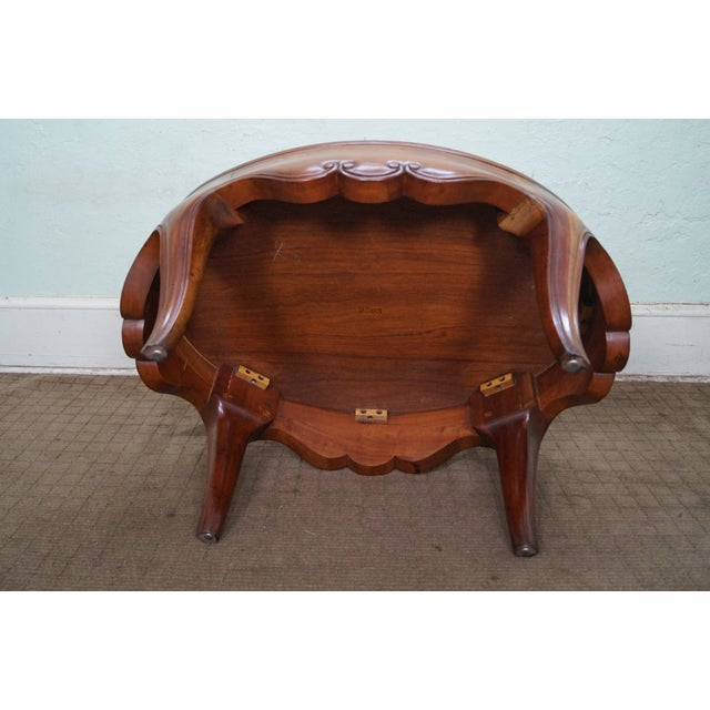 Baker Furniture Milling Road Coffee Table: Baker Milling Road Oval Walnut Coffee Table