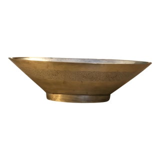 Solid Brass Decorative Oval Bowl