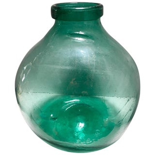 Antique Spanish Glass Demijohn