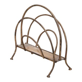 Brass Magazine Faux Bamboo Stand