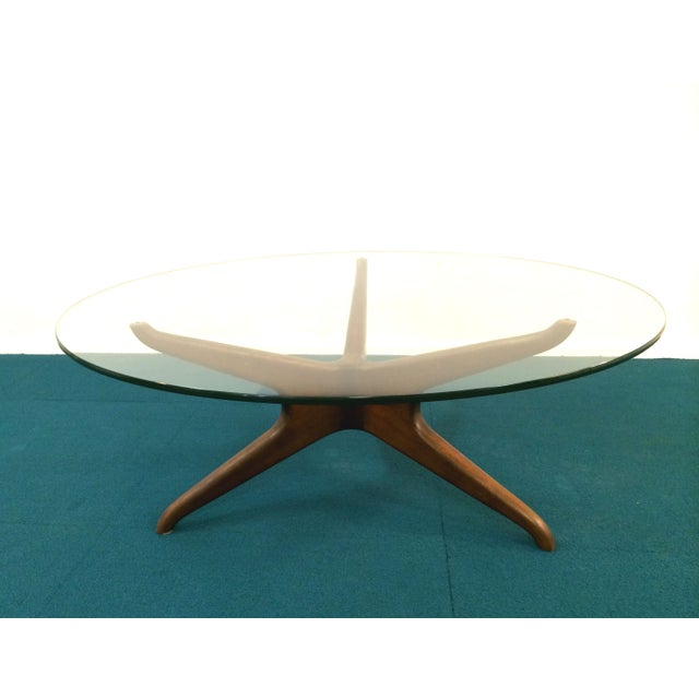Vladimir Kagan Biomorphic Walnut Coffee Table Chairish