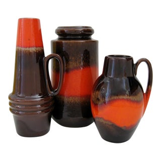 Vintage West German Vases - Set of 3