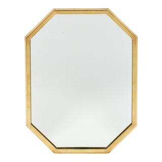 Mid-Century Octagonal Brass Mirror
