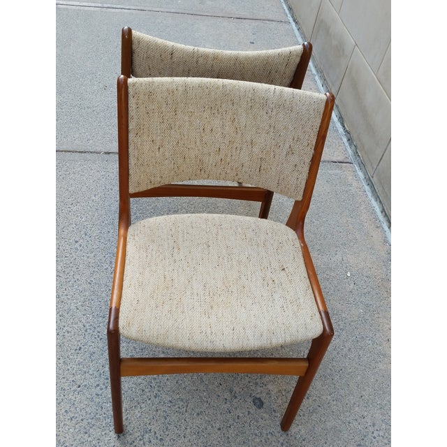 Image of Danish Modern Teak Dining Chairs - A Pair