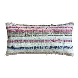 Fuchsia Navy Striped Moroccan Kilim Pillow Cover