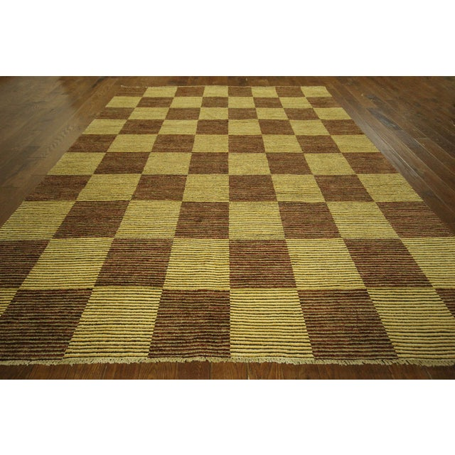 "Checkered Gabbeh Kashkuli Rug - 8'2"" x 10'6"" - Image 3 of 10"