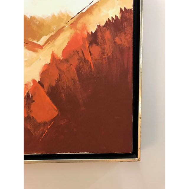 Abstract Oil Painting Signed D Berg