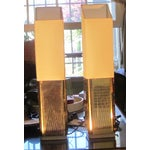 Image of 1970s Gold Lame Lamps - A Pair