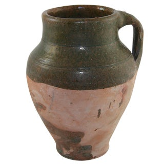 Rug and Relic Green Glaze Earthenware Pottery Vase
