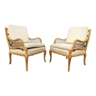 Country French Lounge Chairs - A Pair
