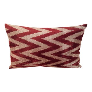 Velvet Ikat Neckrest Pillow