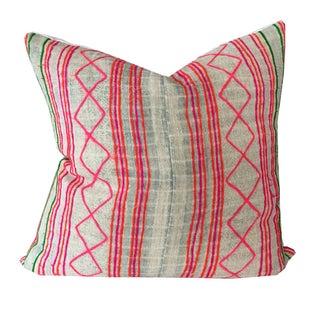 Vintage Neon Hmong Pillow 20 x 20